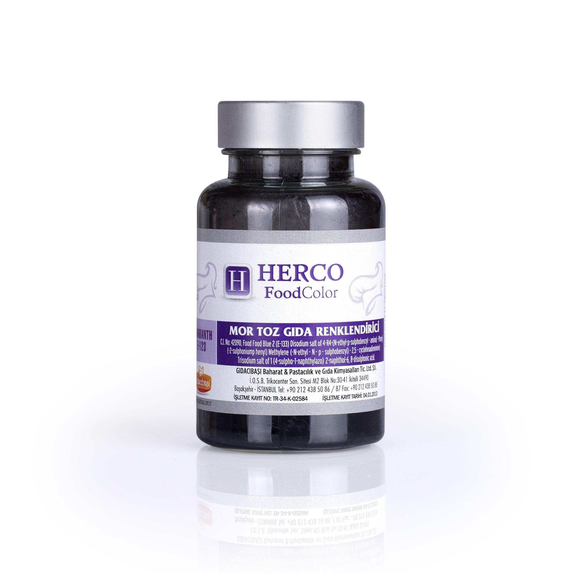 Mor Toz Gıda Renklendirici - Herco FoodColor