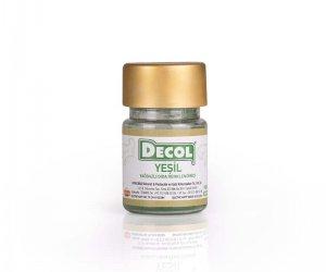 Yeşil Renk Yağ Bazlı Gıda Renklendirici - Decol